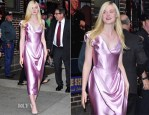 Elle Fanning In Vivienne Westwood - Late Show with David Letterman