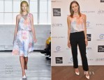 Katharine McPhee In Tanya Taylor & Paule Ka - C.H.I.P.S Colleagues Helpers in Philanthropic Service Children's Institute Annual Charity Luncheon