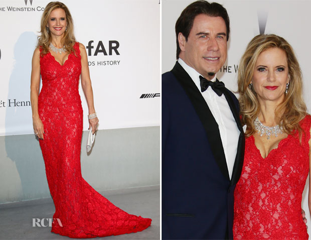 Kelly Preston In Oliver Tolentino Couture - amfAR Cinema Against AIDS gala