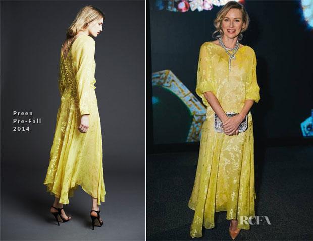 Naomi Watts In Preen - BVLGARI 130 Years of Masterpiece Exhibition Launch Gala