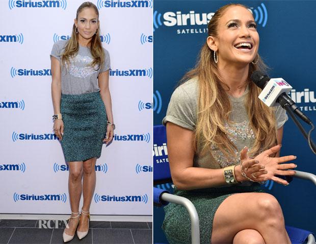 Jennifer Lopez In Markus Lupfer - SiriusXM Town Hall Series