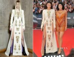 Kendall Jenner In Fausto Puglisi and Kylie Jenner In Nicholas Jebran - 2014 MuchMusic Video Awards