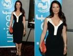 Lucy Liu In Antonio Berardi - 'Meena' New York Premiere