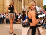Maria Sharapova In Jay Ahr - 2014 French Open Trophy Photocall