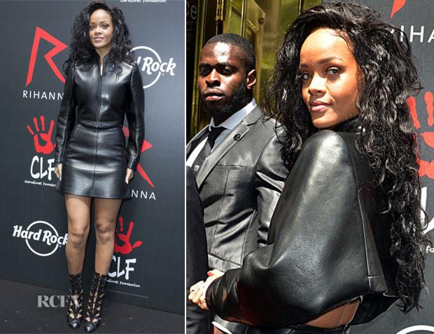 Rihanna In Azzedine Alaia -  'The Clara Lionel Foundation'