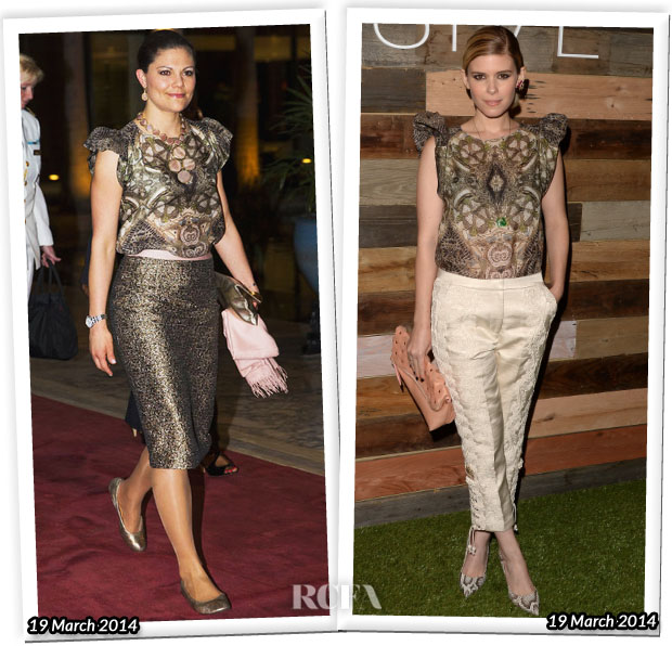 Who Wore H&M Conscious Collection Better Crown Princess Victoria of Sweden or Kate Mara