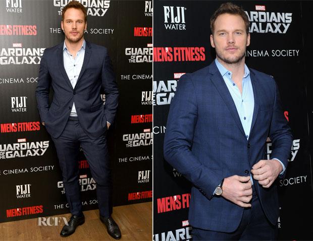Chris Pratt In SAND Copenhagen - 'Guardians of the Galaxy' New York Special Screening