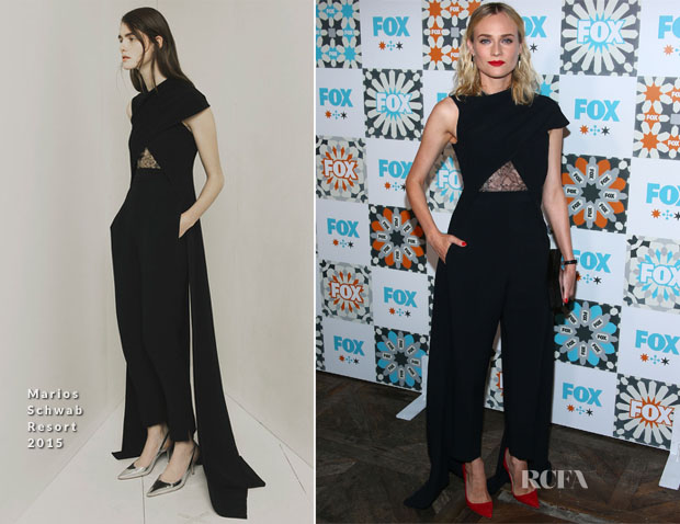 Diane Kruger In Marios Schwab  - Fox Summer TCA All-Star Party