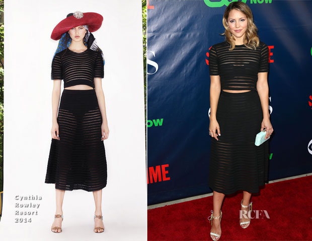 Katharine McPhee In Cynthia Rowley - CBS, CW And Showtime Party