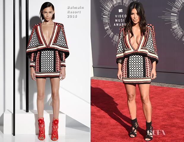 Kim Kardashian In Balmain - 2014 MTV Video Music Awards #VMA