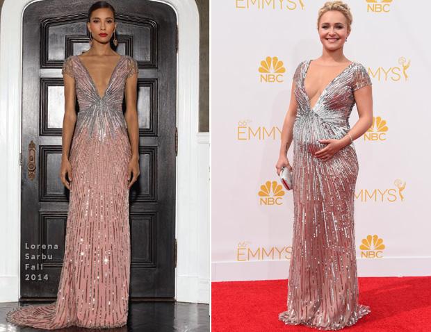 Hayden Panettiere In Lorna Sarbu - – 2014 Emmy Awards