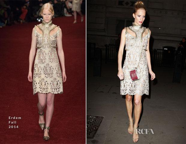 Poppy Delevingne In Erdem - Downing Street London Fashion Week Reception