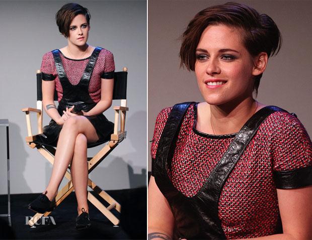 Kristen Stewart In Chanel - Apple Store Soho Presents Meet the Filmmakers 'Camp X-Ray'