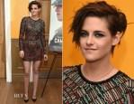 Kristen Stewart In J. Mendel - 'Camp X-Ray' New York Premiere