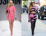 Paris Hilton In Moschino - Out In New York City