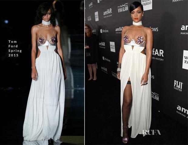 Rihanna In Tom Ford - 2014 amfAR LA Inspiration Gala