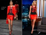 Taylor Swift In J. Mendel - Jimmy Kimmel Live