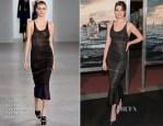 Anne Hathaway In Calvin Klein Collection - 'Interstellar' Washington DC Premiere