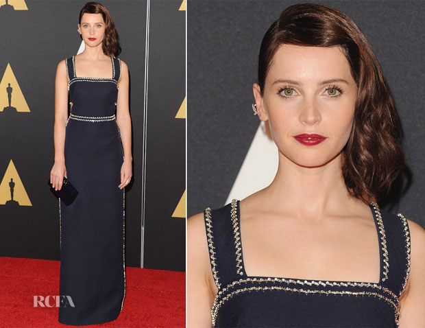 Felicity Jones In Prada - Academy Of Motion Picture Arts And Sciences' Governors Awards