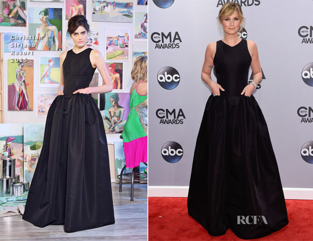 Jennifer Nettles In Christian Siriano -  2014 CMA Awards