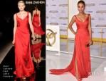 Meta Golding In Rani Zakhem Couture - 'The Hunger Games: Mockingjay – Part 1′ LA Premiere