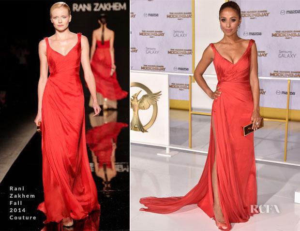 Meta Golding In Rani Zakhem Couture - 'The Hunger Games Mockingjay – Part 1′ LA Premiere