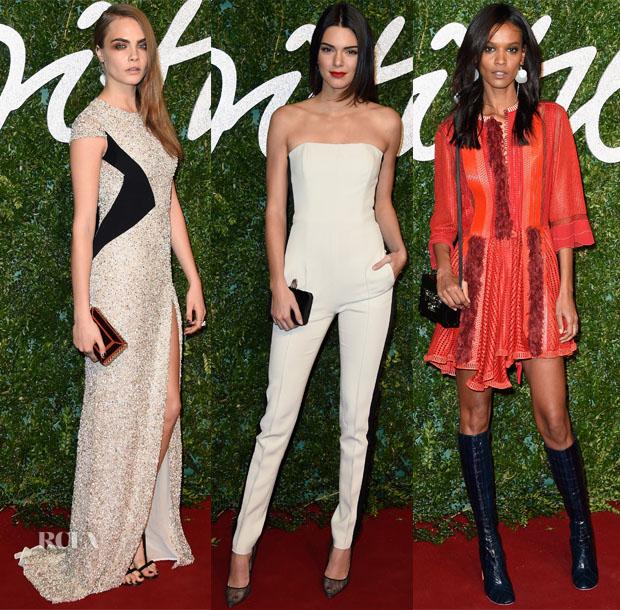 Models 2@ The 2014 2014 British Fashion Awards