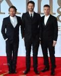 Mark Owen, Howard Donald and Gary Barlow In Emporio Armani - 'Kingsman: The Secret Service' World Premiere