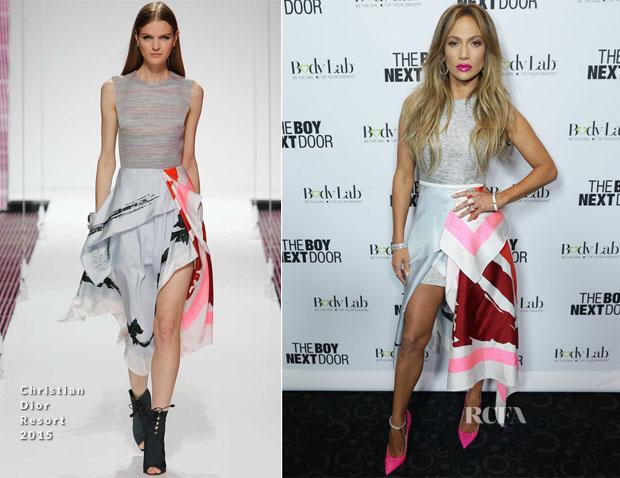 Jennifer Lopez In Christian Dior - 'The Boy Next Door' LA Fan Screening