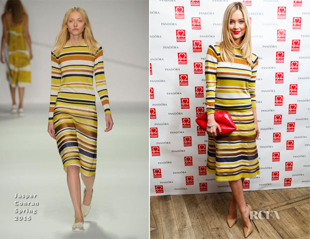 Laura Whitmore In Jasper Conran - PANDORA & BHF Afternoon Tea