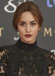 Get The Look: Megan Montaner Goya Awards Bold Lip