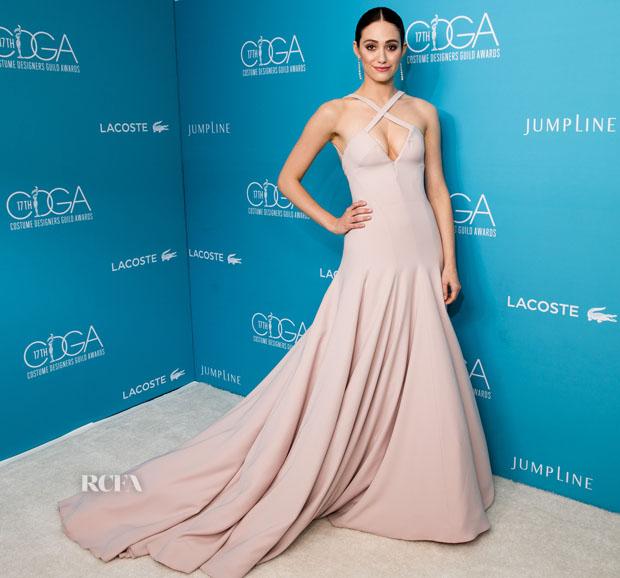 Emmy Rossum In Donna Karan Atelier – 17th Costume Designers Guild Awards