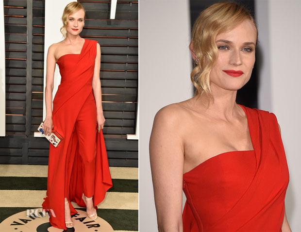 Diane Kruger In Donna Karan Atelier - 2015 Vanity Fair Party
