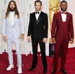 2015 Oscars & Vanity Fair Party Menswear Red Carpet Roundup