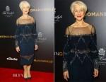 Helen Mirren In Badgley Mischka - 'Woman In Gold' New York Premiere