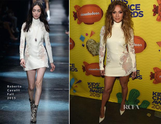 Jennifer Lopez In Roberto Cavalli - 2015 Nickelodeon Kids' Choice Awards