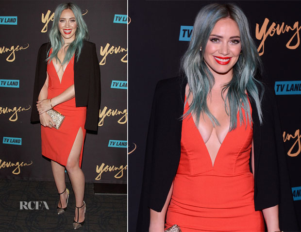 Hilary Duff In Mason by Michelle Mason - 'Younger' New York Premiere