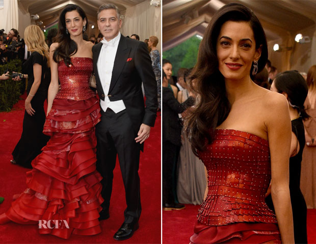 Amal Clooney In Maison Margiela Couture - 2015 Met Gala