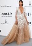 Chanel Iman In Zuhair Murad Couture - 2015 amfAR Cinema Against AIDS Gala