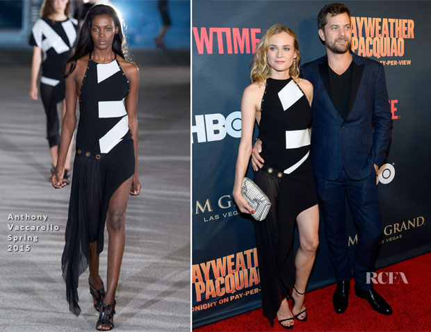 Diane Kruger In Anthony Vaccarello - 'Mayweather VS Pacquiao' SHOWTIME and HBO VIP Pre-Fight Party