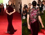 Gong Li In Roberto Cavalli - 2015 Met Gala