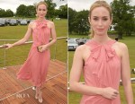 Emily Blunt In Jenny Packham - Audi Polo Challenge