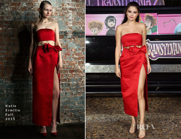 Selena Gomez In Katie Ermilio - 'Hotel Transylvania 2' Cancun Photocall