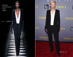 Tilda Swinton In Haider Ackermann - 'Trainwreck' New York Premiere