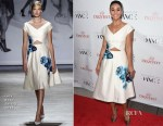 Emmanuelle Chriqui In Lela Rose - 5th Annual Celebration Of Dance Gala Presented By The Dizzy Feet Foundation
