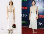 Emmy Rossum In Alessandra Rich - CBS' 2015 Summer TCA Party