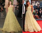 Goya Toledo In Elie Saab Couture - 'Everest' Venice Film Festival Premiere & Opening Ceremony