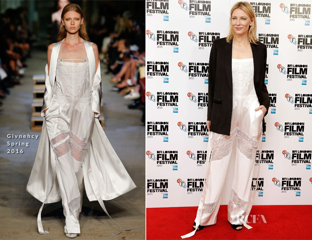Cate Blanchett In Givenchy - 'Carol' London Film Festival Photocall