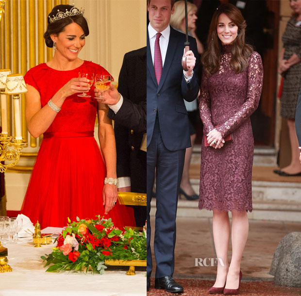 Catherine, Duchess of Cambridge In Dolce & Gabbana and Jenny Packham - President of the Peoples Republic of China State Visit