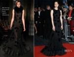 Katherine Waterston In Nicholas Oakwell Couture - 'Steve Jobs' London Film Festival Closing Night Premiere